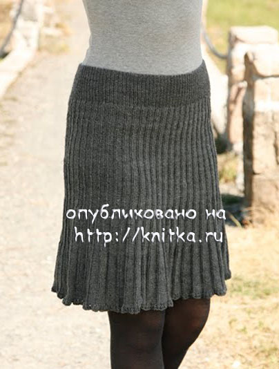 схемы юбки спицами: