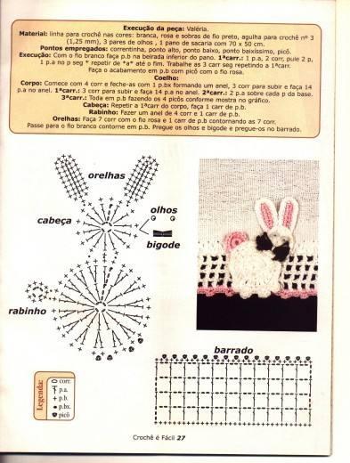 аппликация крючком - кролик и птички (1) (393x520, 124Kb)