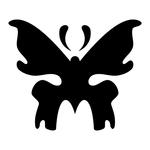 Превью butterfly stencil (1) (700x700, 53Kb)