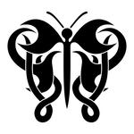 ������ butterfly stencil (7) (700x700, 98Kb)