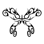 Превью butterfly stencil (12) (700x700, 109Kb)
