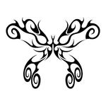 ������ butterfly stencil (12) (700x700, 109Kb)