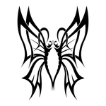 ������ butterfly stencil (18) (700x700, 120Kb)