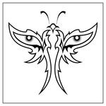 ������ butterfly stencil (31) (700x700, 119Kb)