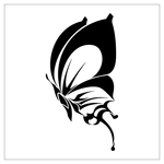 ������ butterfly stencil (38) (700x700, 72Kb)