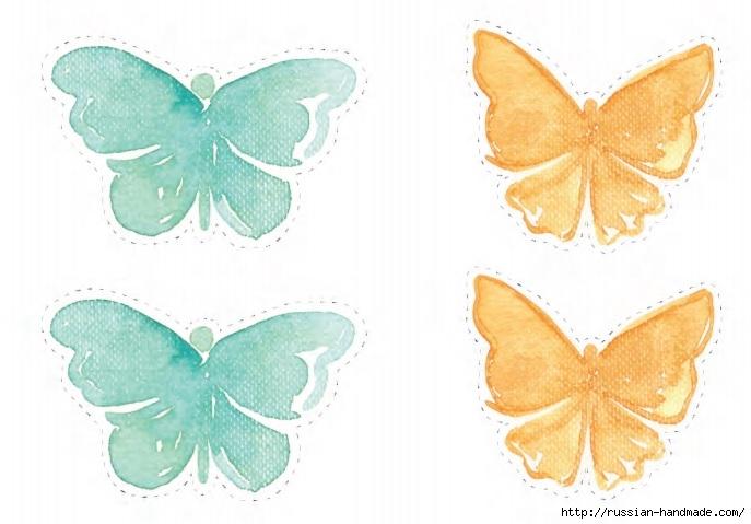 Украшаем интерьер венками с бабочками и перышками (4) (687x479, 151Kb)