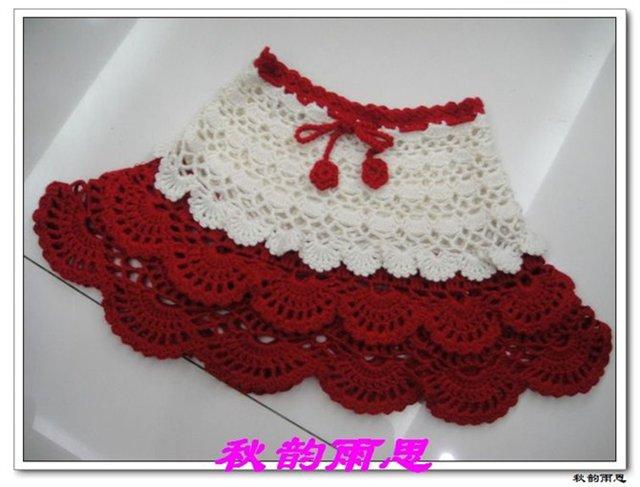 Вязания детских юбочек