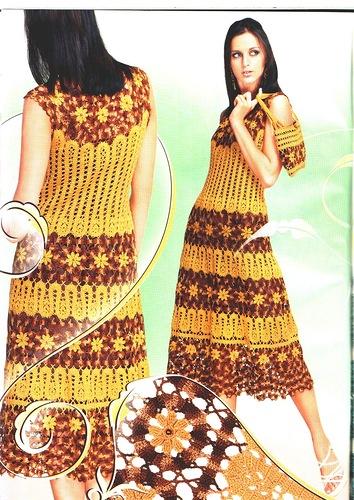 Для вязания платья крючком