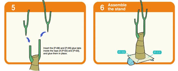 Пахира (Pachira) из бумаги. Цветные шаблоны для распечатки (11) (700x280, 75Kb)