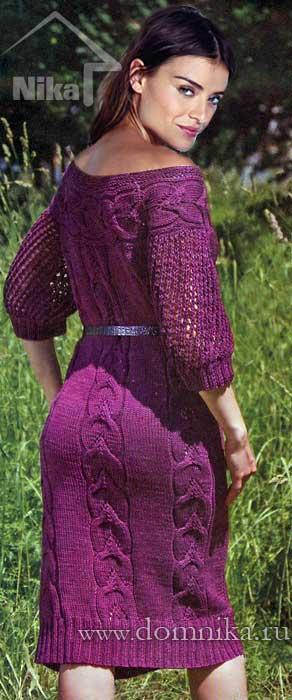 Размеры вязаного платья: 36/38