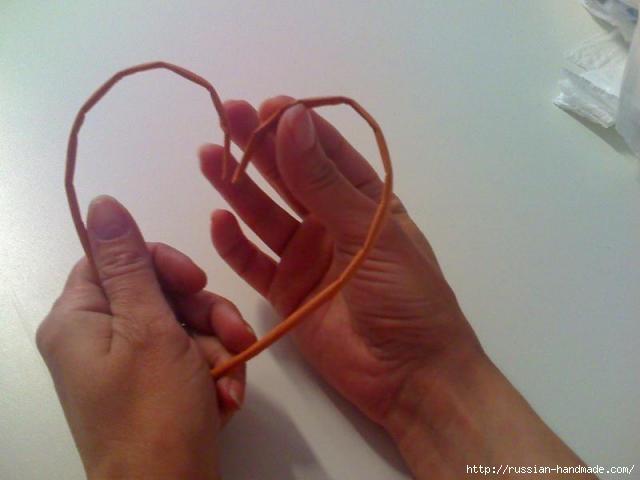 Объемное сердце из газетных трубочек и проволоки. Мастер-класс (3) (640x480, 91Kb)