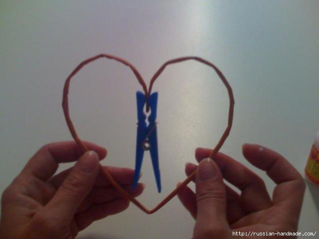 Объемное сердце из газетных трубочек и проволоки. Мастер-класс (5) (640x480, 72Kb)