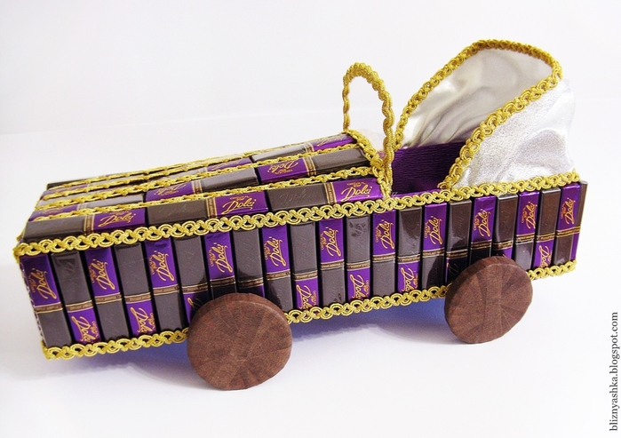машинка из конфет мастер-класс (14) (700x493, 244Kb)