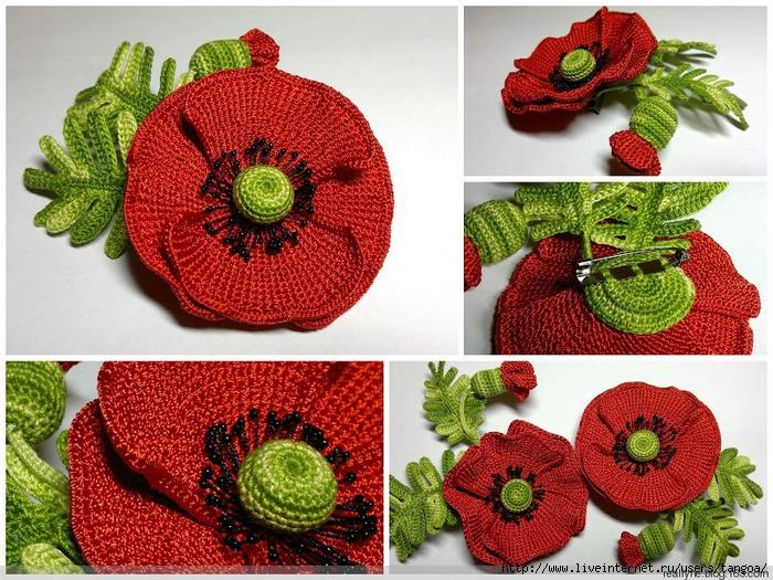 Вязание крючком цветы как украшение себя