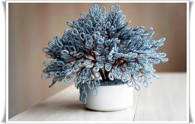 Мастер класс с пошаговыми фото - Схемы деревьев из бисера. схему возникновения...