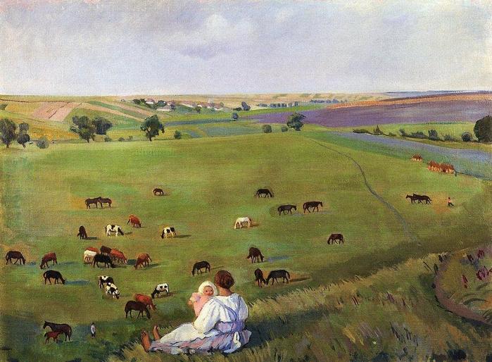 З.Серебрякова. Озими. 1910 (700x514, 427Kb)