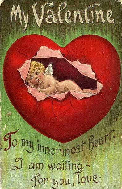 Винтажные картинки ко дню Святого Валентина (13) (395x613, 259Kb)