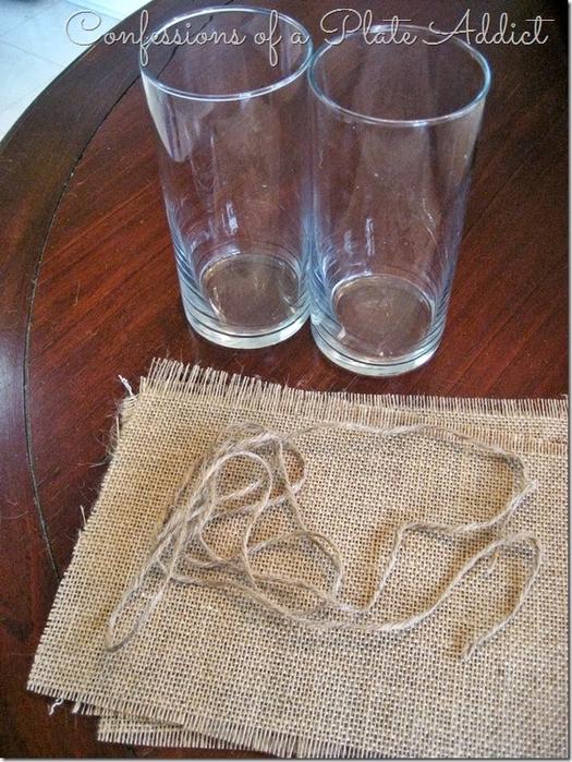 Волшебница мешковина) Стильный декор стаканов для цветов (1) (525x700, 455Kb)