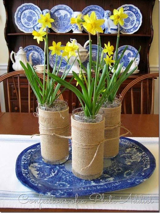 Волшебница мешковина) Стильный декор стаканов для цветов (5) (525x700, 457Kb)
