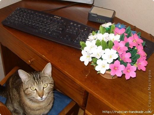 весенний букет цветов в технике оригами (6) (520x390, 142Kb)
