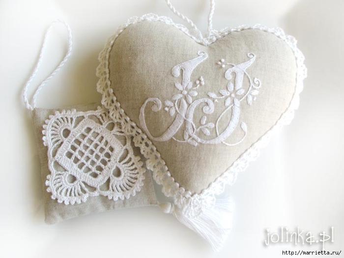 Текстильные сердечки. Большая коллекция очень красивых валентинок (1) (700x525, 184Kb)