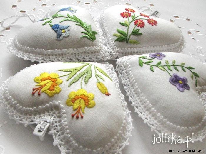 Текстильные сердечки. Большая коллекция очень красивых валентинок (3) (700x525, 297Kb)