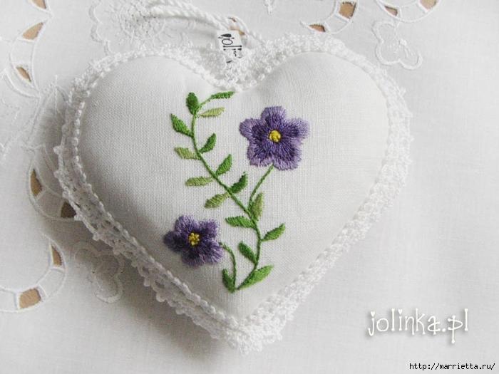Текстильные сердечки. Большая коллекция очень красивых валентинок (7) (700x525, 216Kb)