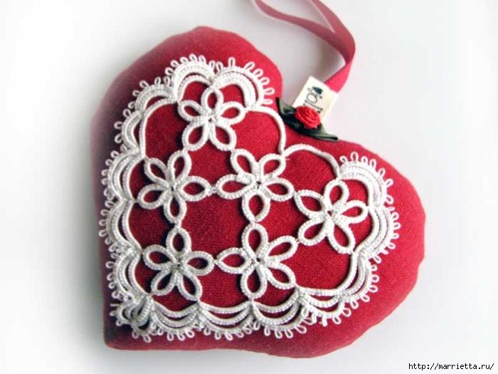 Текстильные сердечки. Большая коллекция очень красивых валентинок (8) (700x525, 209Kb)
