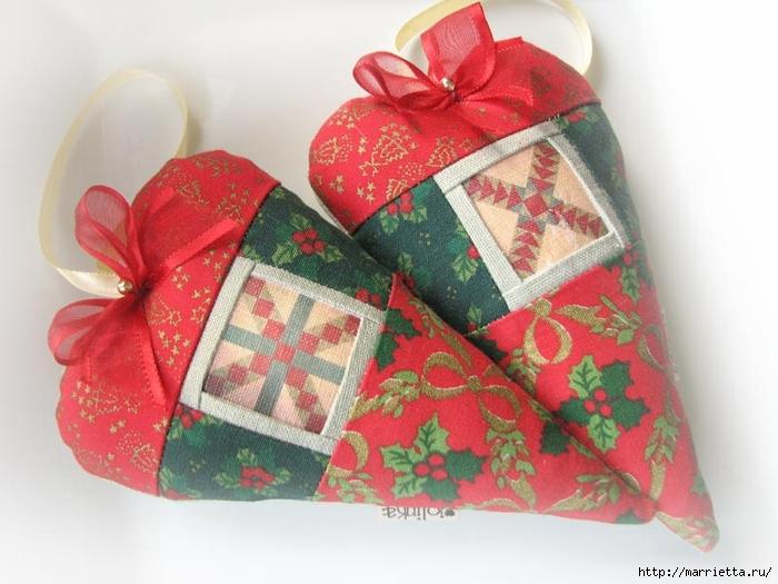 Текстильные сердечки. Большая коллекция очень красивых валентинок (10) (700x525, 237Kb)