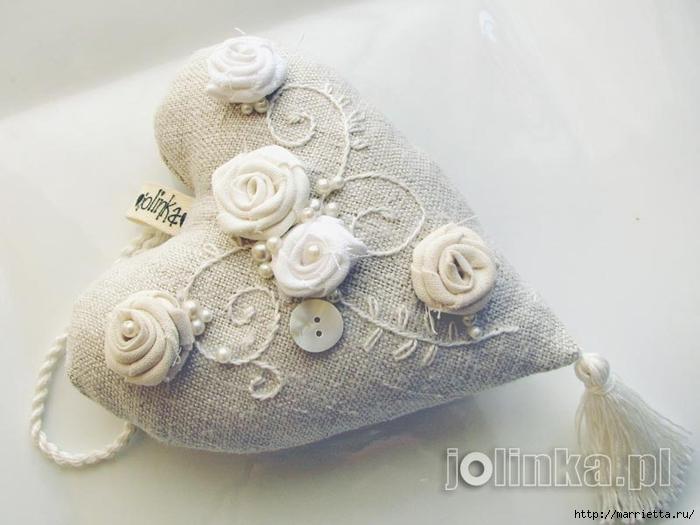Текстильные сердечки. Большая коллекция очень красивых валентинок (15) (700x525, 194Kb)