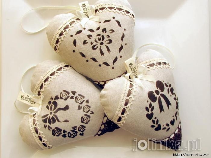 Текстильные сердечки. Большая коллекция очень красивых валентинок (16) (700x525, 240Kb)