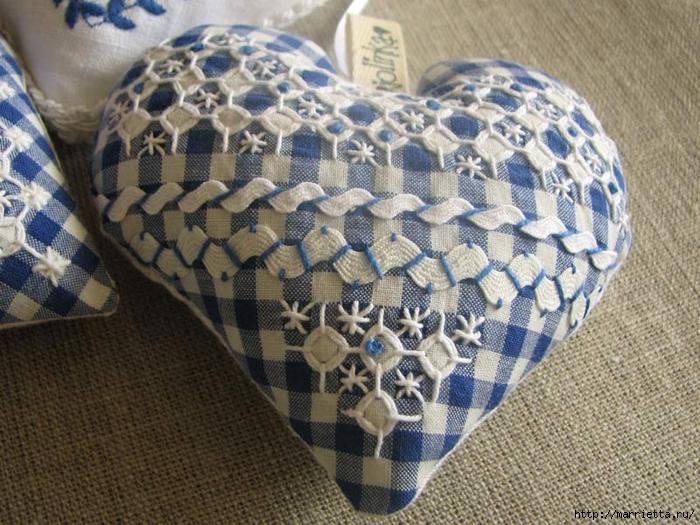 Текстильные сердечки. Большая коллекция очень красивых валентинок (25) (700x525, 332Kb)