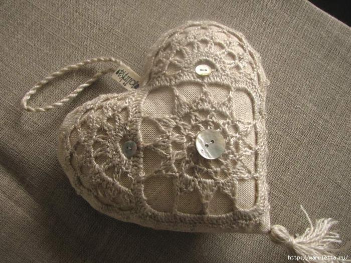 Текстильные сердечки. Большая коллекция очень красивых валентинок (31) (700x525, 331Kb)