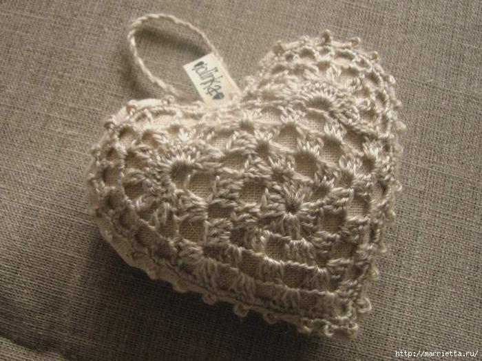 Текстильные сердечки. Большая коллекция очень красивых валентинок (32) (700x525, 288Kb)