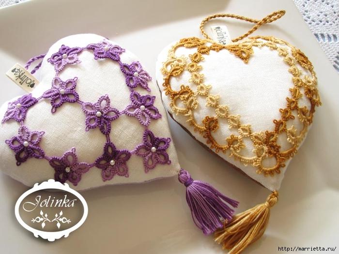 Текстильные сердечки. Большая коллекция очень красивых валентинок (39) (700x525, 268Kb)