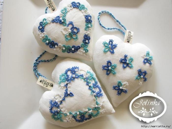 Текстильные сердечки. Большая коллекция очень красивых валентинок (42) (700x525, 231Kb)