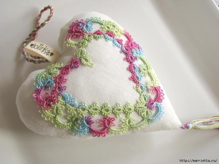 Текстильные сердечки. Большая коллекция очень красивых валентинок (46) (700x525, 205Kb)