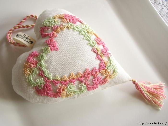 Текстильные сердечки. Большая коллекция очень красивых валентинок (47) (700x525, 207Kb)