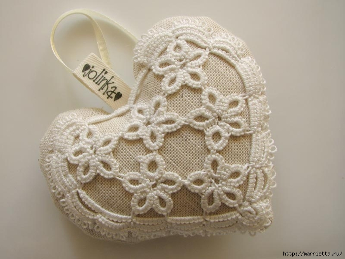 Текстильные сердечки. Большая коллекция очень красивых валентинок (49) (700x525, 200Kb)