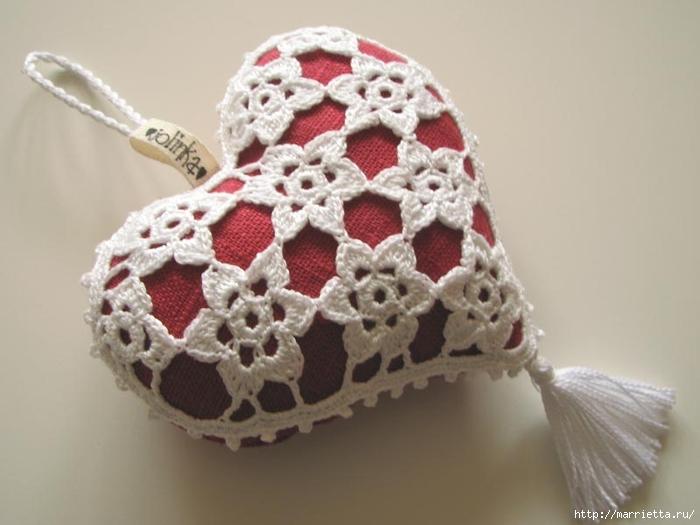 Текстильные сердечки. Большая коллекция очень красивых валентинок (57) (700x525, 174Kb)