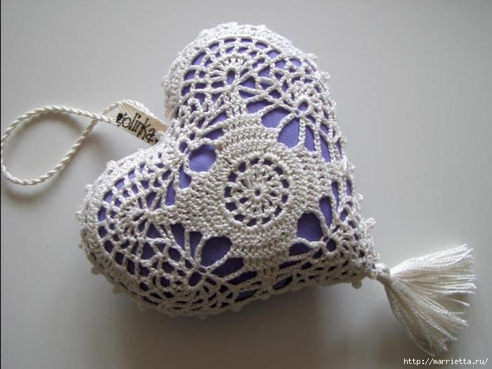 Текстильные сердечки. Большая коллекция очень красивых валентинок (59) (700x525, 199Kb)