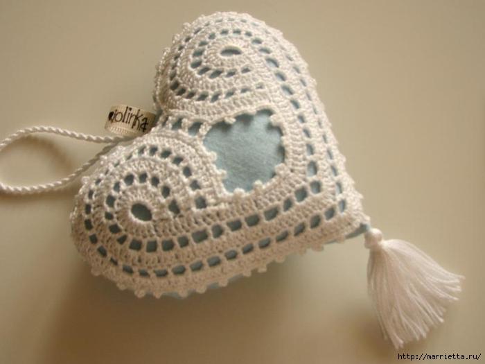 Текстильные сердечки. Большая коллекция очень красивых валентинок (65) (700x525, 157Kb)