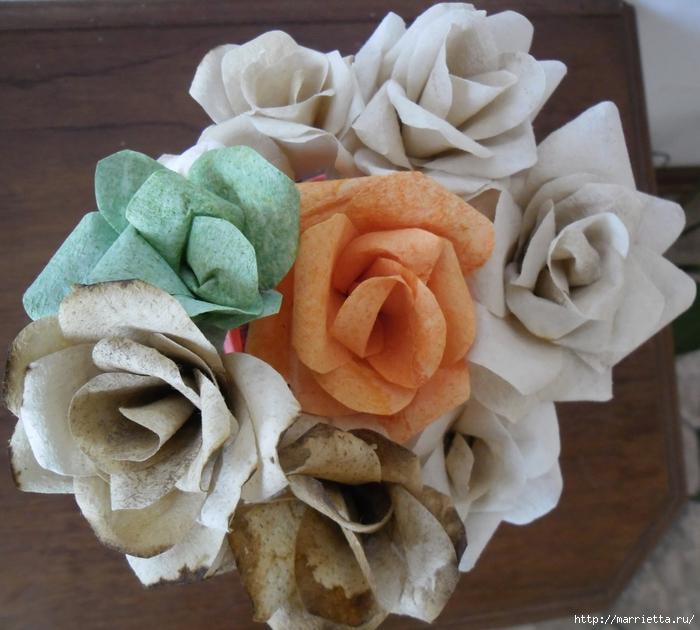 Розы из кофейных фильтров. Мастер-класс (19) (700x630, 294Kb)