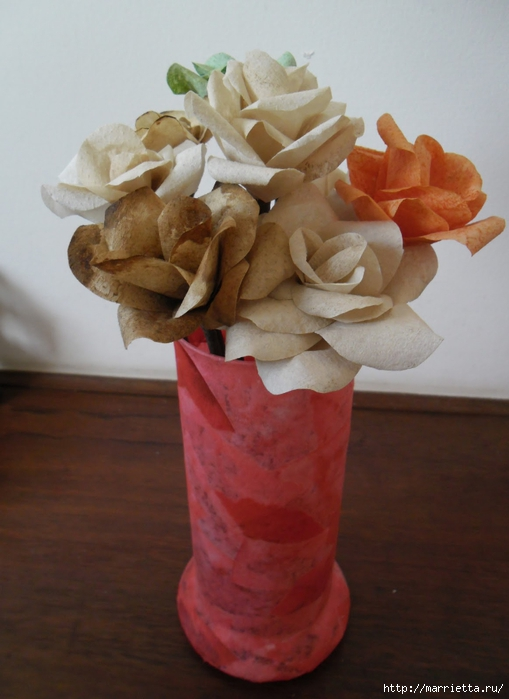 Розы из кофейных фильтров. Мастер-класс (20) (509x700, 200Kb)