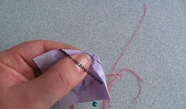 Пэчворк. Создание и сшивание шестиугольников для пледа. Мастер-класс (7) (600x351, 160Kb)