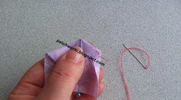 Пэчворк. Создание и сшивание шестиугольников для пледа. Мастер-класс (11) (600x332, 153Kb)