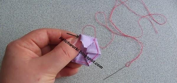 Пэчворк. Создание и сшивание шестиугольников для пледа. Мастер-класс (23) (600x284, 153Kb)