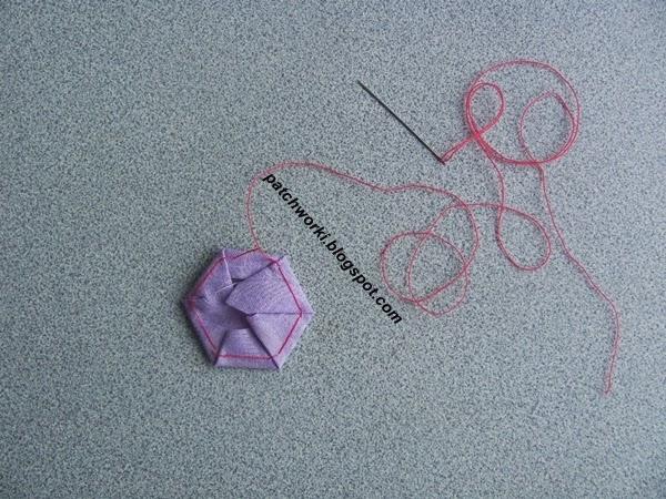 Пэчворк. Создание и сшивание шестиугольников для пледа. Мастер-класс (25) (600x450, 303Kb)
