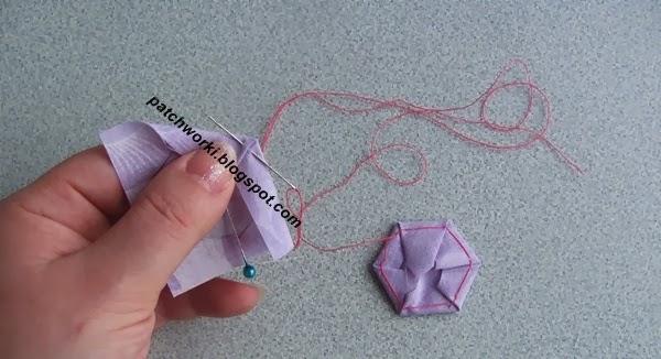 Пэчворк. Создание и сшивание шестиугольников для пледа. Мастер-класс (27) (600x326, 173Kb)