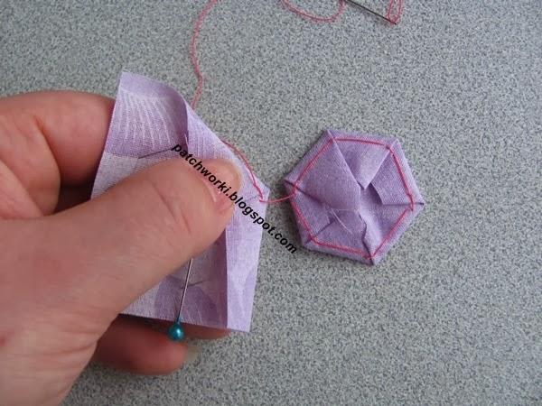 Пэчворк. Создание и сшивание шестиугольников для пледа. Мастер-класс (29) (600x450, 251Kb)